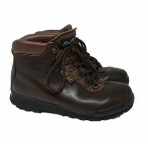 Vasque Hiking Boots Cowhide Leather Red Size 8 M